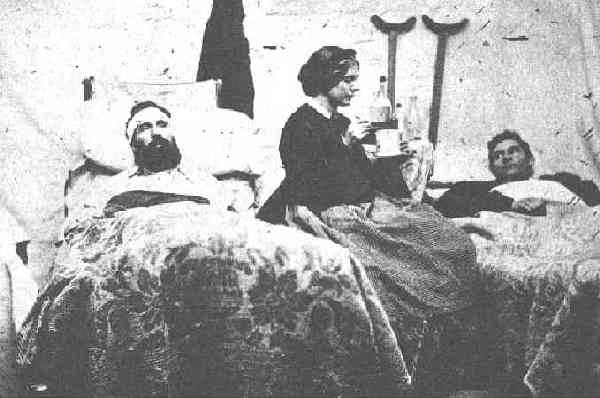 Nurse at work in a Field Hospital