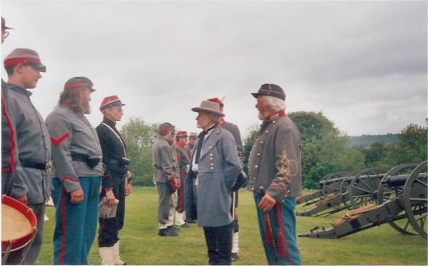 Rockbridge Artillery - Inspection by R E Lee