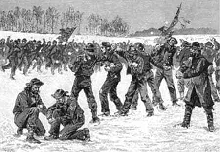 Civil War Snowball Fight