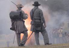 Confederate Officers with explosion